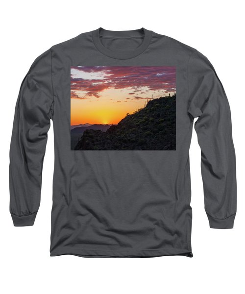 Sunset At Gate's Pass Long Sleeve T-Shirt