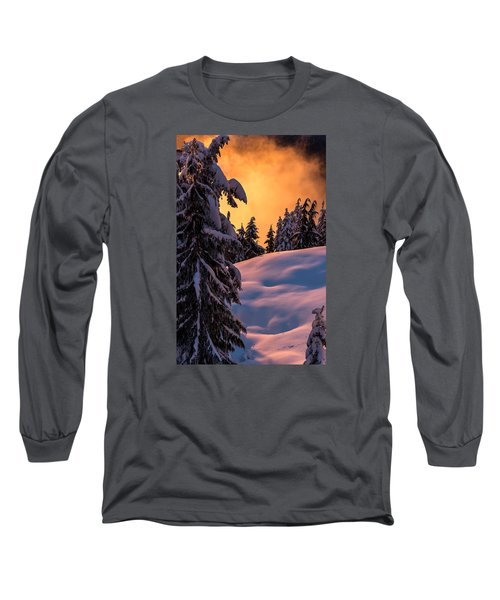 Sunset At Grouse Mountain Long Sleeve T-Shirt by Sabine Edrissi