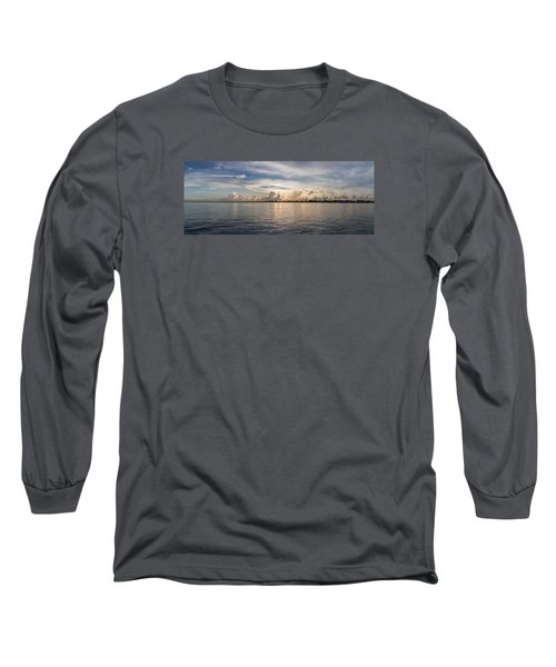 Sunset At Key Largo Long Sleeve T-Shirt by Christopher L Thomley