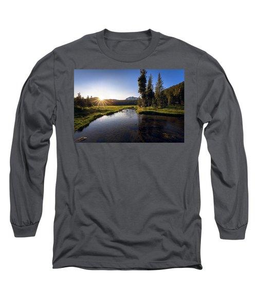 Sunset At Kings Creek In Lassen Volcanic National Long Sleeve T-Shirt