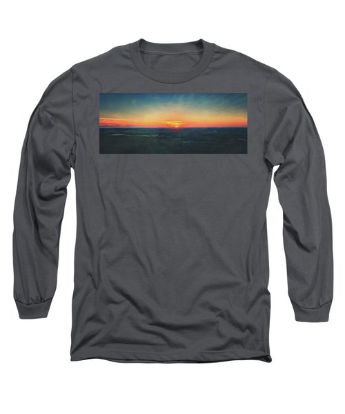 Long Sleeve T-Shirt featuring the photograph Sunset At Lapham Peak #3 - Wisconsin by Jennifer Rondinelli Reilly - Fine Art Photography