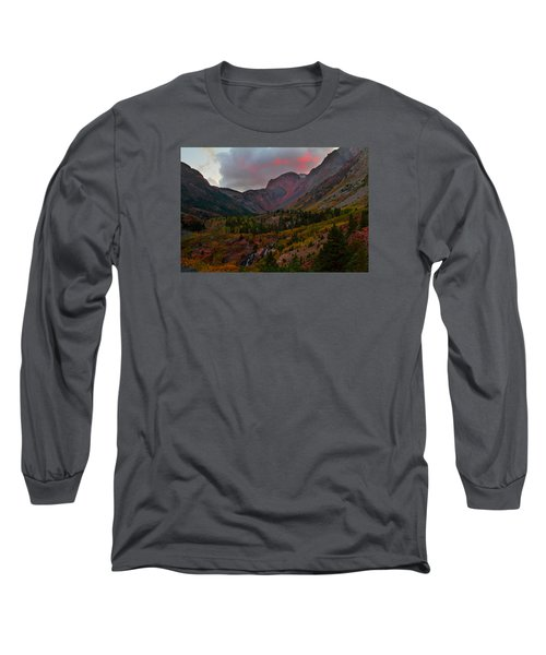 Sunset At Lundy Canyon During Autumn In The Eastern Sierras Long Sleeve T-Shirt by Jetson Nguyen