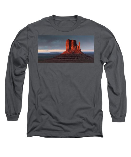 Sunset At Monument Valley Long Sleeve T-Shirt