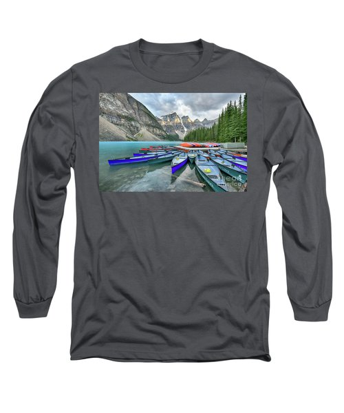 Sunset At Moraine Lake Long Sleeve T-Shirt