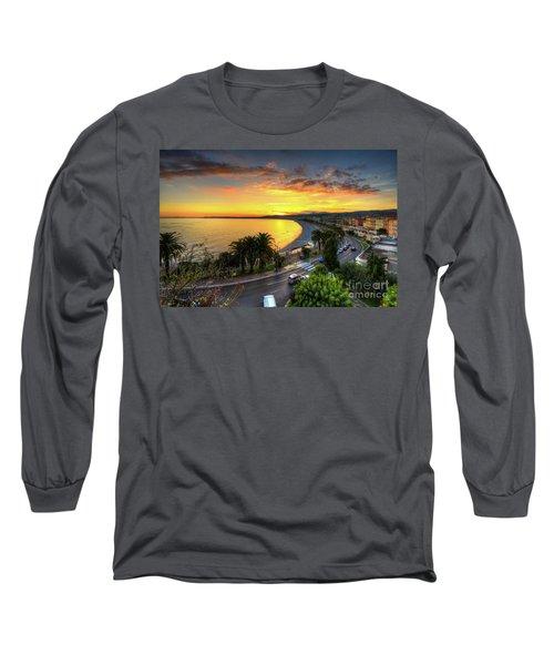 Long Sleeve T-Shirt featuring the photograph Sunset At Nice by Yhun Suarez