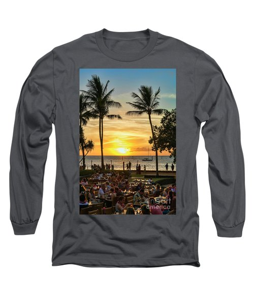 Sunset At Old Lahina Luau #2 Long Sleeve T-Shirt