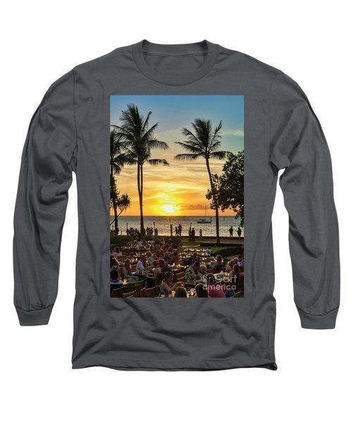 Sunset At Old Lahina Luau #2 Long Sleeve T-Shirt