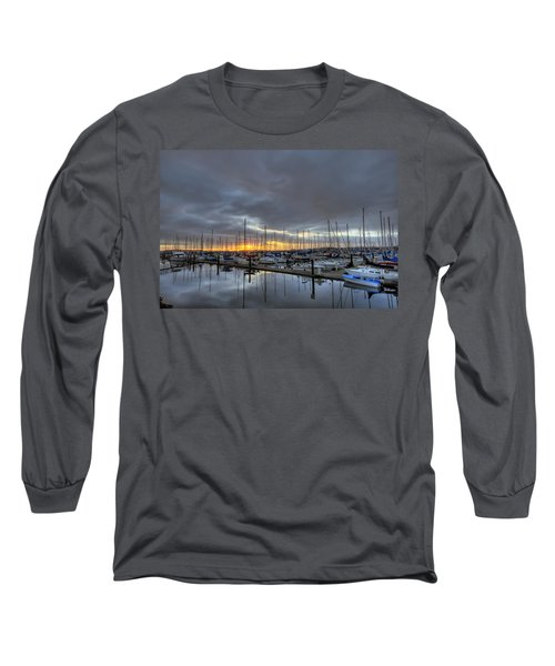 Sunset At Port Gardner Long Sleeve T-Shirt