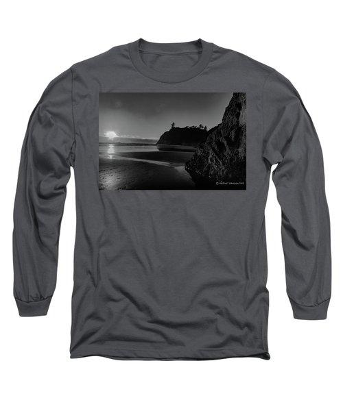 Sunset At Ruby Beach Long Sleeve T-Shirt