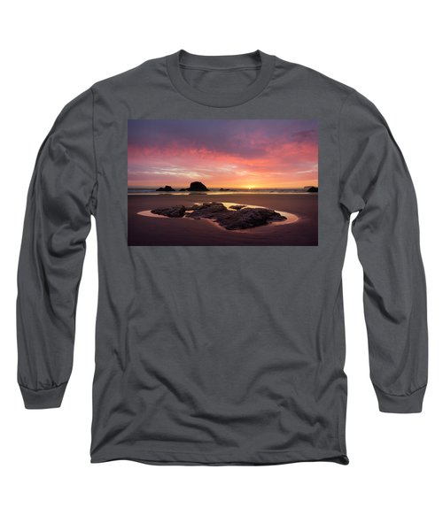 Sunset At Ruby Beach Long Sleeve T-Shirt