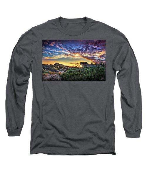 Sunset At Sage Ranch Long Sleeve T-Shirt