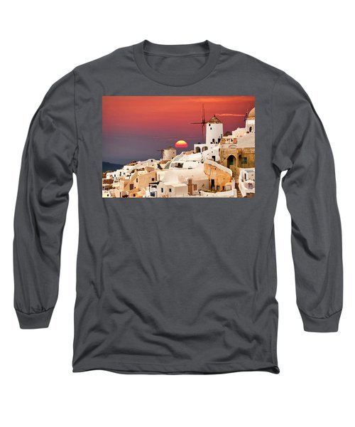 sunset at Santorini Long Sleeve T-Shirt