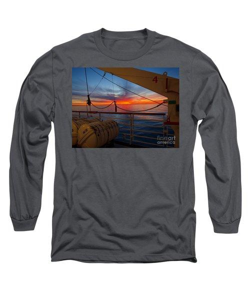 Sunset At Sea Long Sleeve T-Shirt