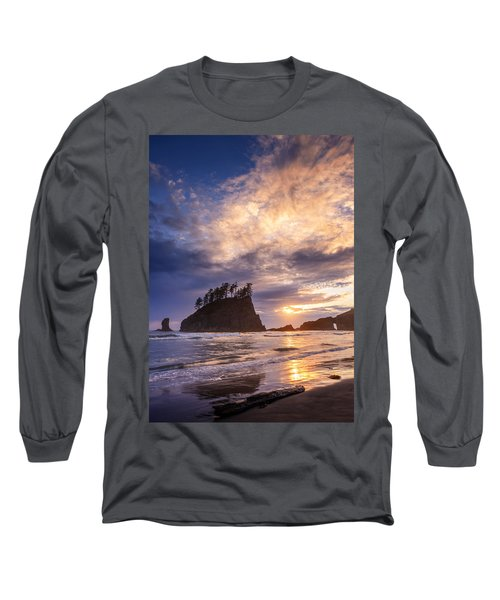 Long Sleeve T-Shirt featuring the photograph Sunset At Second Beach by Dan Mihai