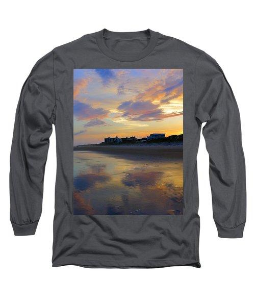 Sunset At The Beach Long Sleeve T-Shirt by Betty Buller Whitehead