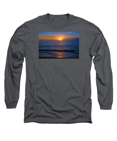Sunset At The Beach In Naples, Fl Long Sleeve T-Shirt