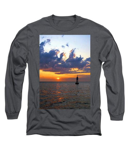 Sunset At The Bell Buoy Long Sleeve T-Shirt