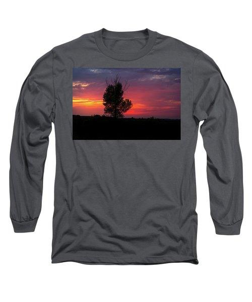 Sunset At The Danube Banks Long Sleeve T-Shirt