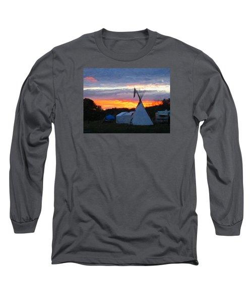 Sunset At The Powwow Long Sleeve T-Shirt