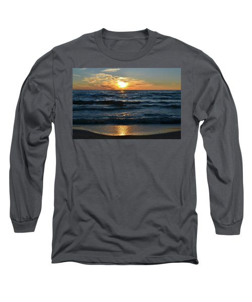 Sunset At Wasaga Beach June 21-2017  Long Sleeve T-Shirt