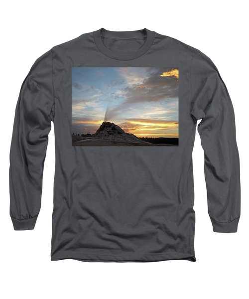 Sunset At White Dome Geyser Long Sleeve T-Shirt