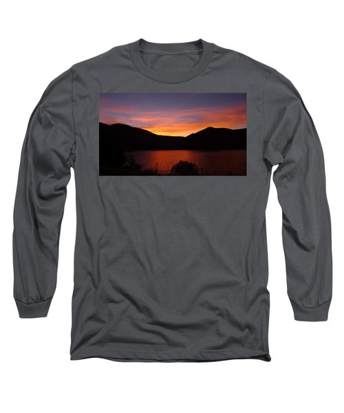Sunset At Woodhead Campground  Long Sleeve T-Shirt