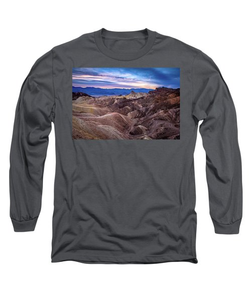 Sunset At Zabriskie Point In Death Valley National Park Long Sleeve T-Shirt