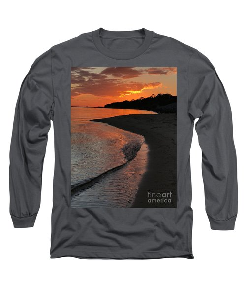 Long Sleeve T-Shirt featuring the photograph Sunset Bay by Lori Mellen-Pagliaro