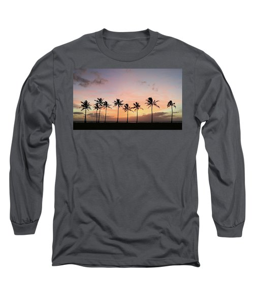 Sunset Behind The Palms Long Sleeve T-Shirt