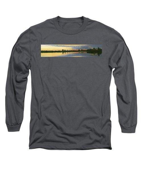 Sunset Ben Jack Pond Long Sleeve T-Shirt