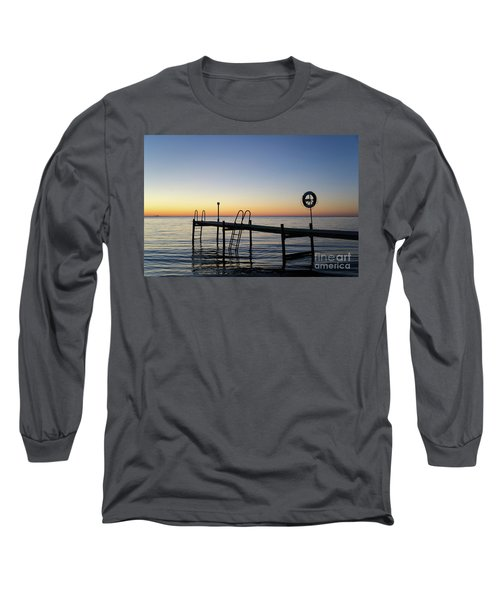 Long Sleeve T-Shirt featuring the photograph Sunset By The Old Bath Pier by Kennerth and Birgitta Kullman