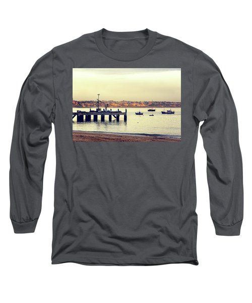 Long Sleeve T-Shirt featuring the photograph Sunset By The Sea by Marion McCristall