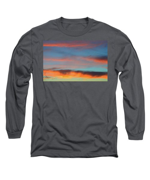 Sunset Clouds In Blue Sky  Long Sleeve T-Shirt by Lyle Crump