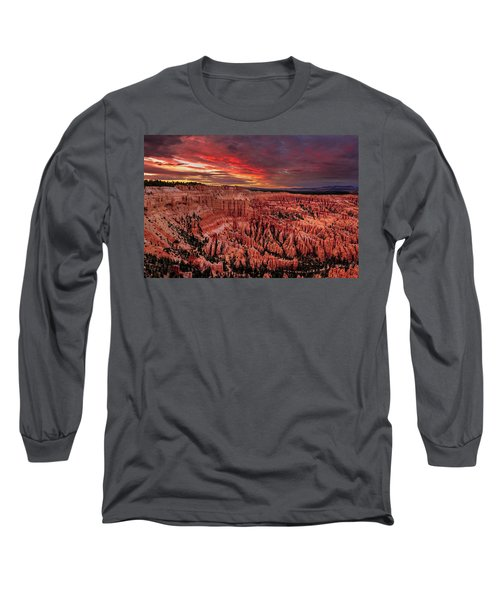 Sunset Clouds Over Bryce Canyon Long Sleeve T-Shirt