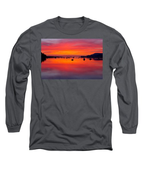 Sunset, Conwy Estuary Long Sleeve T-Shirt