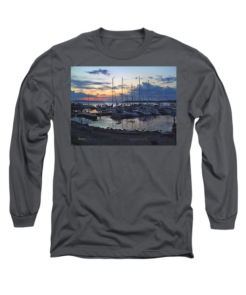 Sunset Dock Long Sleeve T-Shirt by Felipe Adan Lerma