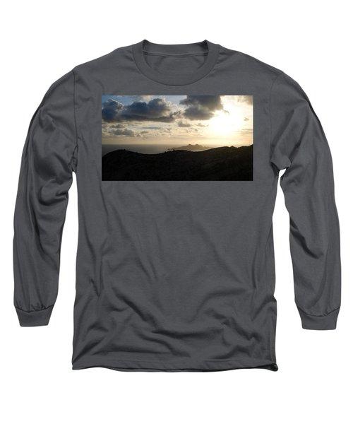 Sunset Dragon Island Long Sleeve T-Shirt