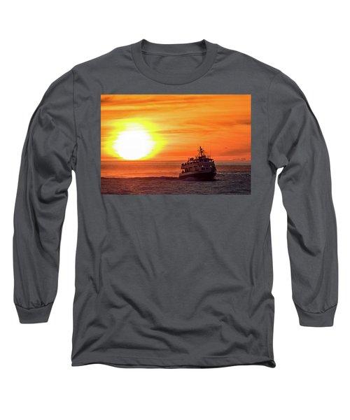 Sunset Ferry Long Sleeve T-Shirt