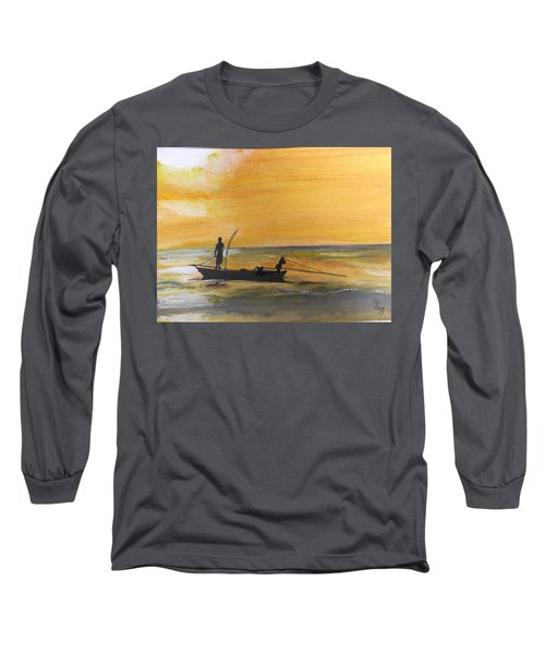 Sunset Fishing Long Sleeve T-Shirt