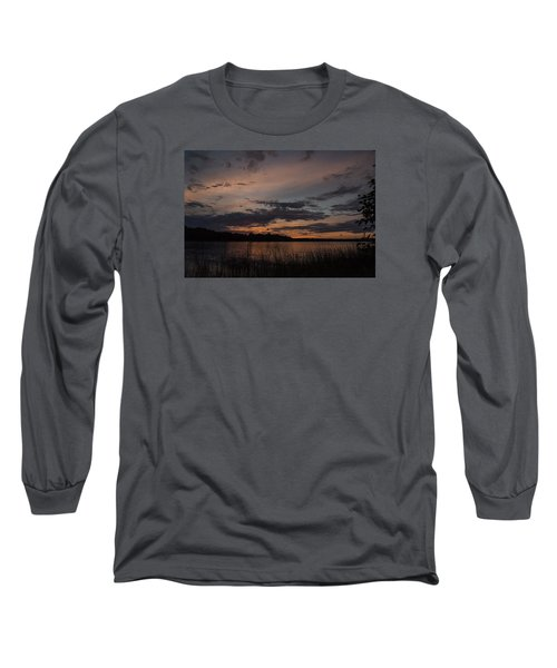 Sunset From Afternoon Beach Long Sleeve T-Shirt by Gary Eason