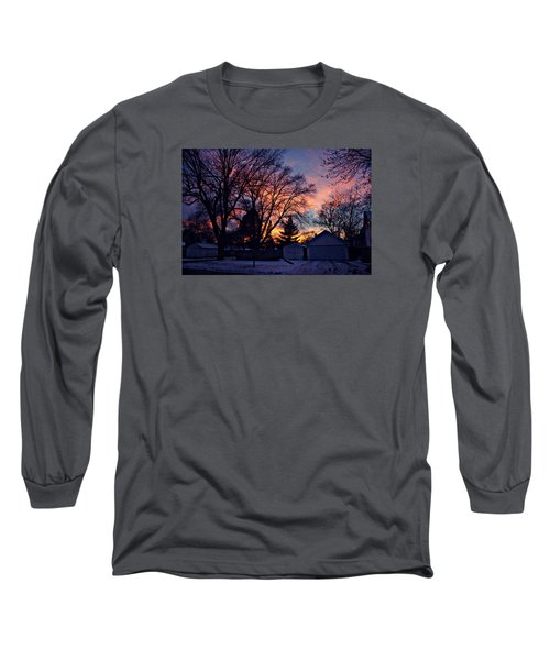 Sunset From My View Long Sleeve T-Shirt by Kathy M Krause