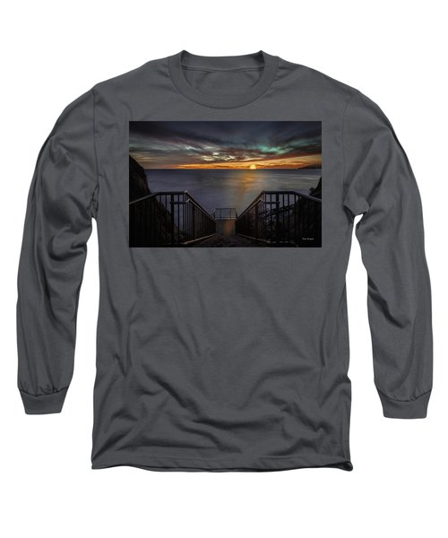 Sunset From Sandpiper Staircase Long Sleeve T-Shirt