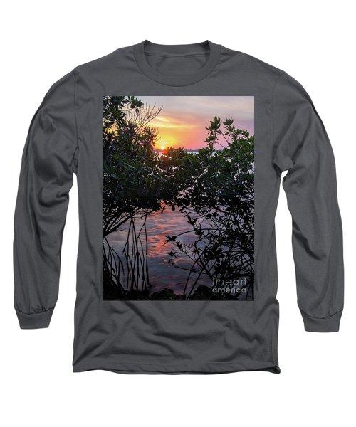 Long Sleeve T-Shirt featuring the photograph Sunset, Hutchinson Island, Florida  -29188-29191 by John Bald