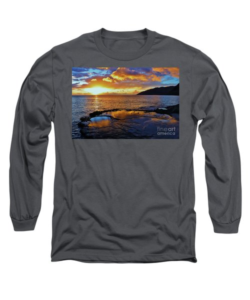 Sunset In A Tide Pool Long Sleeve T-Shirt