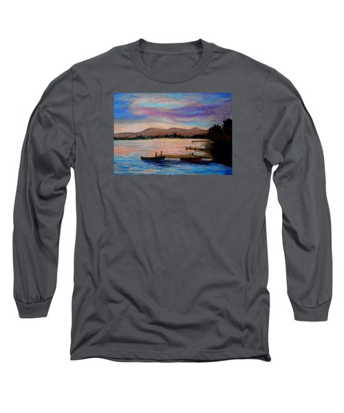 Sunset In Evia Long Sleeve T-Shirt