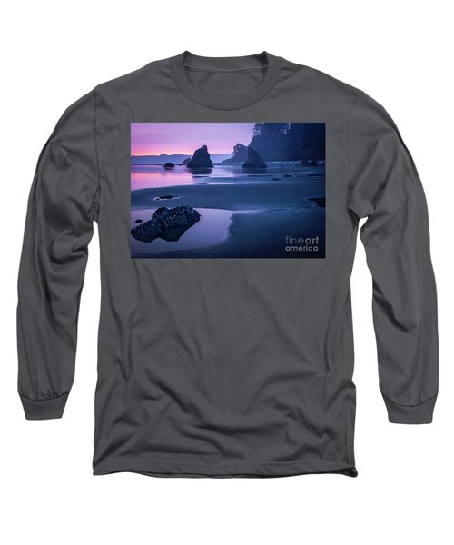 Sunset In Ruby Beach Long Sleeve T-Shirt