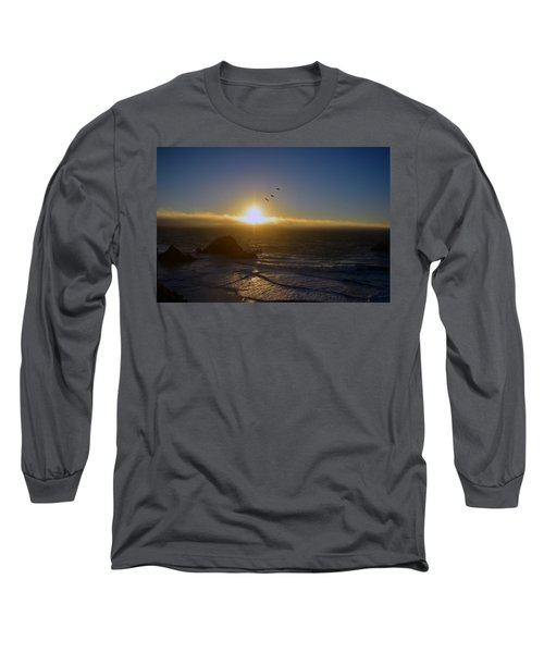 Sunset In San Francisco Long Sleeve T-Shirt