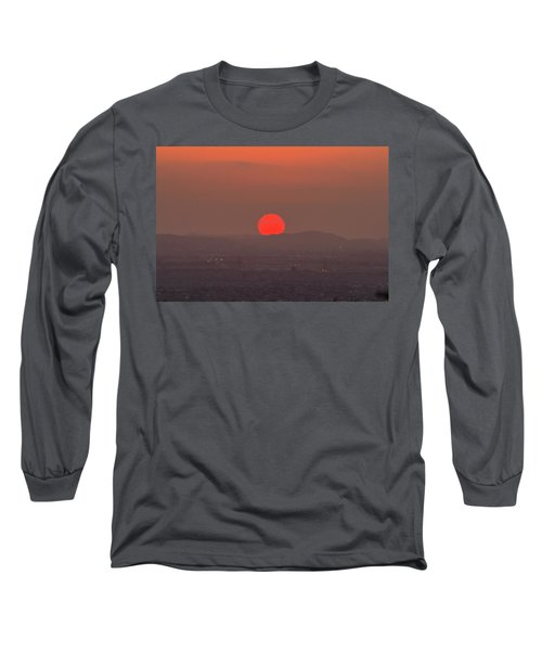 Sunset In Smog Long Sleeve T-Shirt by Hyuntae Kim