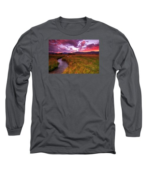 Sunset In The North Fields. Long Sleeve T-Shirt by Johnny Adolphson