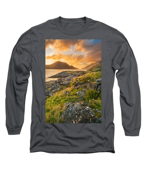 Long Sleeve T-Shirt featuring the photograph Sunset In The North by Maciej Markiewicz